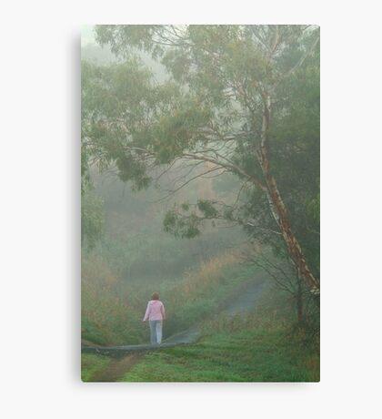 Misty Morning Walk,Waurn Pond Creek Canvas Print
