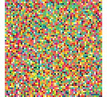 Pixel Art Pattern Photographic Print