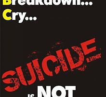 Poster 5 - Suicide Awareness Campaign by Chris Dixon