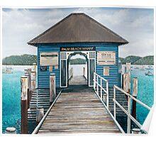 Palm Beach Wharf Poster