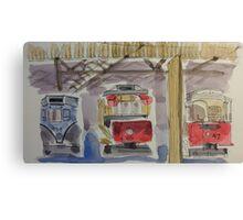Historic Brisbane Trams Canvas Print