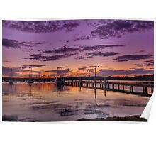 Croudace Bay Sunset 3 Poster