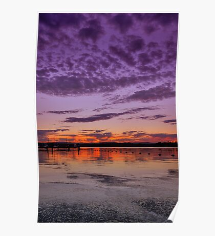 Croudace Bay Sunset 4 Poster