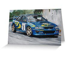 Colin McRae Subaru Impretza Greeting Card