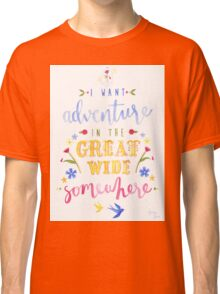 Beauty and the Beast Adventure Typography Classic T-Shirt