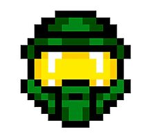 8-Bit Master Chief Green Photographic Print