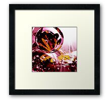 Love, if it holds in a single flower, is infinite. Framed Print