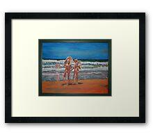 Samurai Beach, Anna Bay, NSW. Last annual nude beach, carnival.  Framed Print