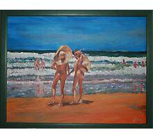Samurai Beach, Anna Bay, NSW. Last annual nude beach, carnival.  Photographic Print