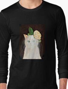 The Bride Cat Art Long Sleeve T-Shirt