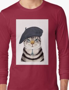 Charming French Cat  Long Sleeve T-Shirt