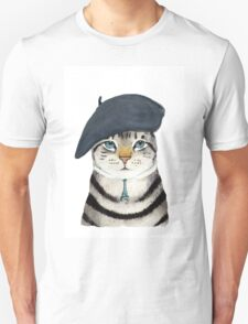 Charming French Cat  Unisex T-Shirt