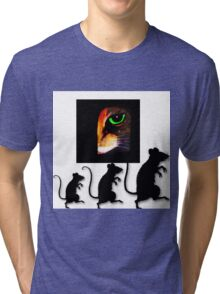 Charming Cat Watching! Tri-blend T-Shirt