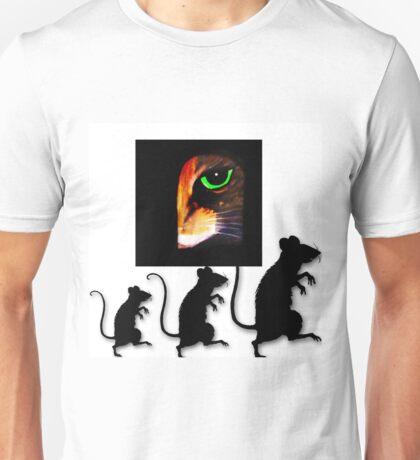 Charming Cat Watching! Unisex T-Shirt