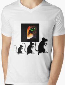 Charming Cat Watching! Mens V-Neck T-Shirt