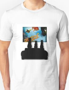 Charming Cats Watching Aquarium T-Shirt
