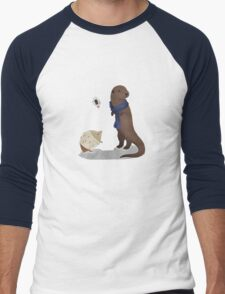 animalock Men's Baseball ¾ T-Shirt