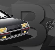 Citroen BX GTI 16V Illustrated Mug by RJWautographics