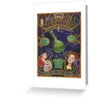 Hocus Pocus - Sanderson's Potions and Notions Vintage Add Poster (Unofficial, Fan Art) Greeting Card