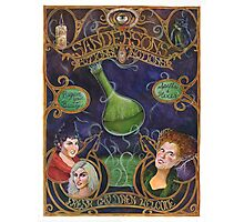 Hocus Pocus - Sanderson's Potions and Notions Vintage Add Poster (Unofficial, Fan Art) Photographic Print