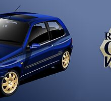 Renault Clio Williams Illustrated Mug by RJWautographics