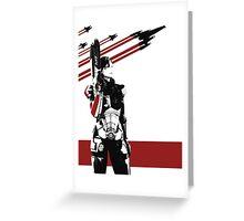 N7- Commander Shepard (Female) Greeting Card