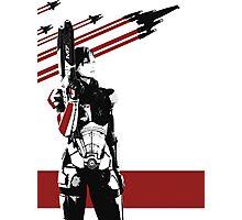 N7- Commander Shepard (Female) Photographic Print