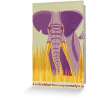 Elephant Conservation Illustration Greeting Card