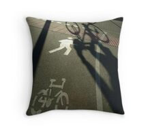 morning cyclist, Perth, Western Australia Throw Pillow