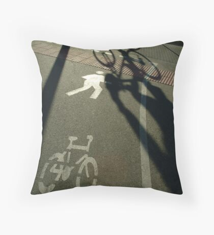 morning cyclist, Perth, Western Australia Throw Pillow