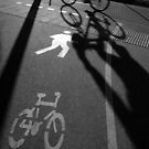 morning cyclist (black &amp; white), Perth, Western Australia by nick page