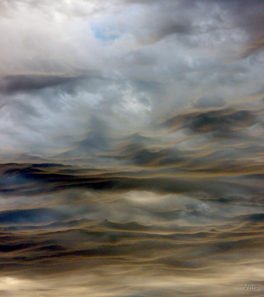 coloured wave clouds by Ants