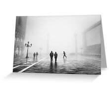 Fog In San Marco, Venice, Italy (2011) Greeting Card