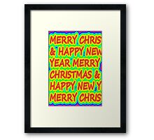 color merry christmas Framed Print