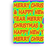 color merry christmas Canvas Print