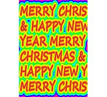 color merry christmas Photographic Print
