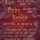Ask - Seek - Knock by Patricia Howitt