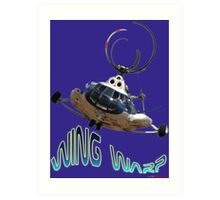 Mil Helicopter Wing Warp T-shirt Design Art Print