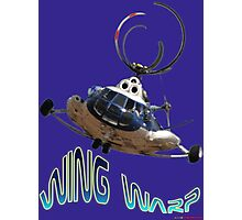Mil Helicopter Wing Warp T-shirt Design Photographic Print