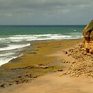 Foreshore Bells Beach,Great Ocaen Road by Joe Mortelliti