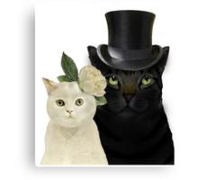 Charming Cats Wedding Canvas Print