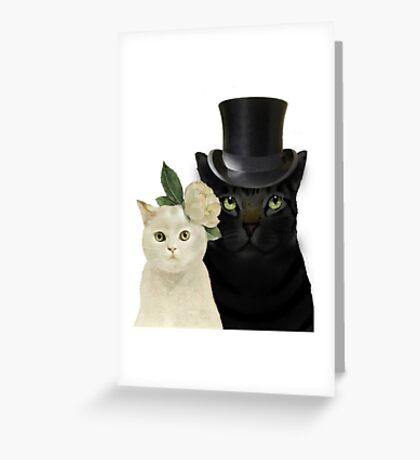Charming Cats Wedding Greeting Card