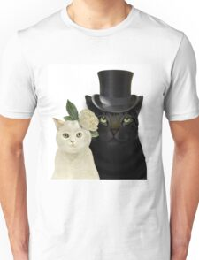 Charming Cats Wedding Unisex T-Shirt
