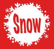 white snowball - snow Kids Tee