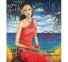 Girl With Mango Photographic Print