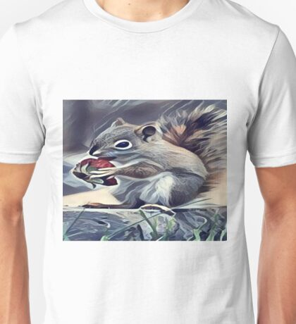 Squirrel Eating a Berry Unisex T-Shirt