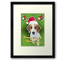 dog want present too Framed Print