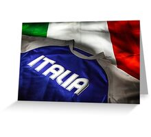 Italian flag and t-shirt Greeting Card