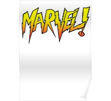 Marvel Wrestler White Poster