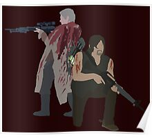 Carol Peletier and Daryl Dixon (Version 1) - The Walking Dead  Poster